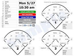 Great Visual For Position Rotation Baseball Lineup