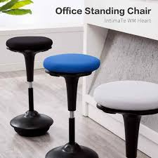 Leaning Chair Design Perch Leaning Wooble Stool Adjustable Ergonomic Active Sit Stand Backless Swivel Desk Chair Gb