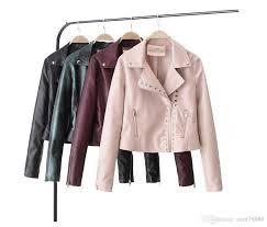 New Designer Coats New Designer Fashion Studs Womens Clothing Leather Pu Jackets Luxury Ladies Coats Winter Outdoor Outerwear Female Slim Slim Short Coats Sweater Jacket