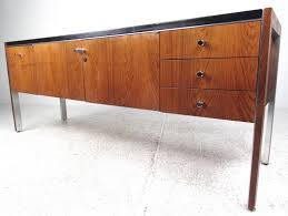 modern office credenza. MidCentury Modern Leather Top Rosewood Office Credenza By Herman Miller 3