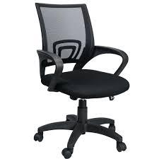 desk chairs black wood swivel desk chair ergonomic roller computer mesh padded seating office friday