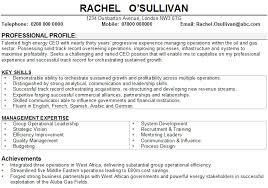 Management Cv Business Management Cv Sample