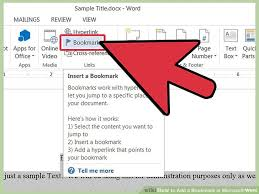 image titled add a bookmark in microsoft word step 2