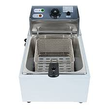 tinsay 5 5l electric countertop deep fryer commercial basket electric fry restaurant 2500w