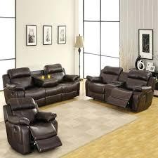 leather reclining sofa set home leather reclining sofa set with console brown 1 leather reclining sofa set 2 piece dual