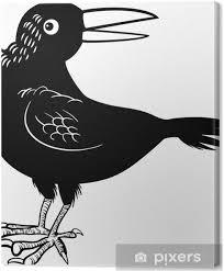 Canvas Kraai Of Raaf Vogel Kleurplaat Pixers We Leven Om Te