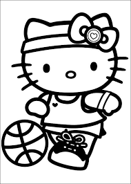 Small Picture Hello Kitty Playing Soccer Hello Kitty Coloring Pages