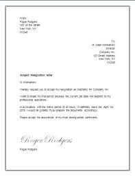 Resign Letter Format In Word Resignation Letter Word Letter Of Resignation Template Word Letter