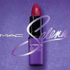 selena s signature brick red lipstick gets majot billing in mac s selena makeup collection photo