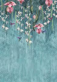 Teal / Pink - Mural : Wallpaper Direct ...