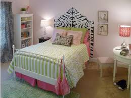Small Bedroom Layouts Zebra Print Headboard For Small Bedroom Layout With Pink Color