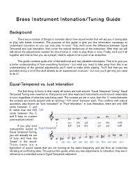 Just Intonation Chart Brass Instrument Intonation Guide By Ryan Williams Issuu