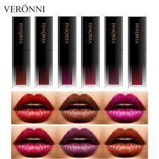 China <b>Hot Sales</b> VERONNI Longlasting <b>Matte</b> Lipstick <b>6 Colors</b> ...