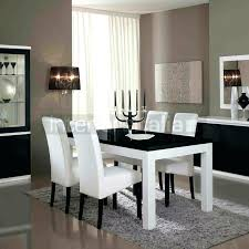 white modern dining set black round table and room rugs