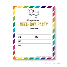 Downloadable Birthday Invitations Free Printable Golden Unicorn Birthday Invitation Template Free