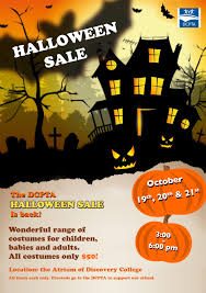 halloween sale flyer the explorer save the date the pta halloween costume sale