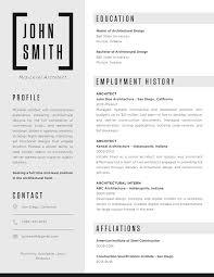 Architect Resume Template