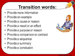 Transition words essay    Daily Mom    Students who write academic essays need toprovide effective transitions