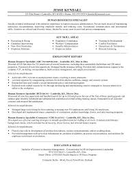 Employment Specialist Resume Simple Human Resource Specialist Resume Bino48terrainsco