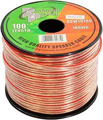 100ft 18 Gauge Speaker Wire Copper Cable In Spool For Connecting Audio Stereo To Amplifier Surround Sound System Tv Home Theater And Car Stereo