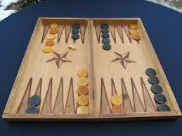 details about old antique wooden hand made backgammon with all pieces checkers