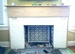 removing fireplace mantel update your brass fireplace without removing the doors