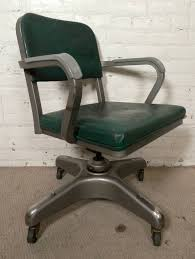vintage metal office chair. Vintage Desk Chair By American Company Metal-Lux, With Original Vinyl Seating. 360 Metal Office T
