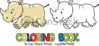 coloring book of little rhino csp29676460