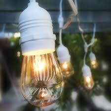 White Cord Lights Details About 10 Socket Outdoor Commercial String Light S14 Bulbs 21 Ft White Cord