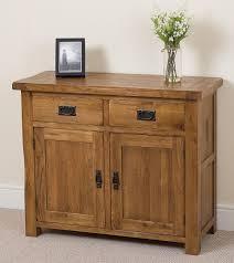 Rustic Kitchen Sideboard Cotswold Rustic Solid Oak Small Sideboard Oak Furniture King