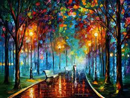 misty mood 2 palette knife oil painting on canvas by leonid afremov size 54