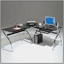 office depot glass computer desk. Captivating 60 L Shaped Desk Office Depot Inspiration Design Of Regarding Glass Inspirations 14 Computer S