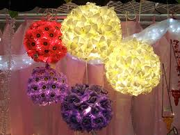Flower Paper Lanterns More Paper Lanterns With Flowers Crafty Nest