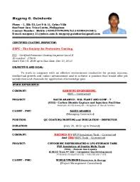 Ndt Inspector Resume Quality Control Inspector Resume Samples Quality Inspector