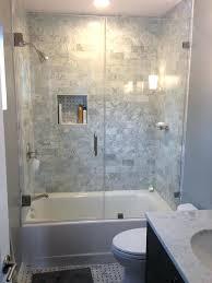 glamorous frameless bathtub shower doors tub doors