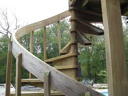 image of used outdoor spiral staircase for