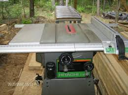 hitachi table saw. i replaced my old delta with this hitachi. hitachi table saw
