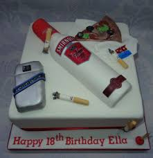 Cigarettes And Alcohol Pizza Cake By That Cake Lady Cakesdecor