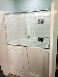 bathtubs walk in bathtub shower combo australia shower door installed onto a walk in tub