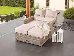 greemotion rattan sonneninsel sofa sonnenliege bahia twin grau bicolor