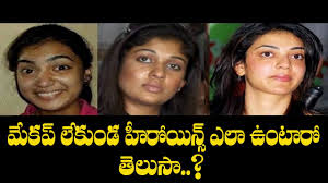 actress makeup and without tollywood es