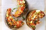 baked pumpkin with onions  tomatoes and basil