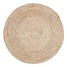 plumeria round jute rug 100x100cm