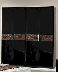 wardrobe in black brown finish made in italy bbb