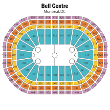 Bell Centre Seating Chart Views And Reviews Montreal