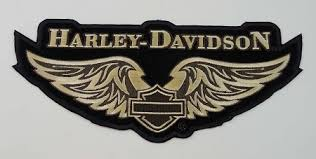 harley davidson golden wings embroidered patch hd69