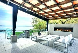 modern outdoor fireplace contemporary covered patio designs with seating fire pit