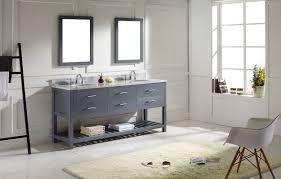 virtu usa ine estate 72 bathroom vanity cabinet in grey