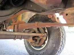 while replacing truck leaf springs