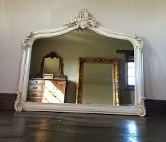 large over mantle mirror french ivory